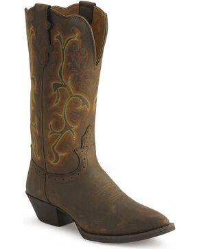 """Justin Women's 12"""" Stampede Western Boots, Sorrel, hi-res"""