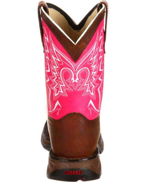 Lil' Durango Toddler Girls' Let Love Fly Western Boots, Brown, hi-res