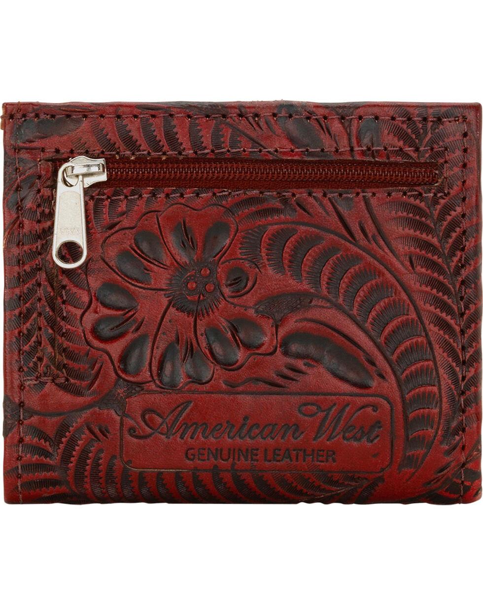 American West Women's Bi-fold Boyfriend Wallet, Crimson, hi-res