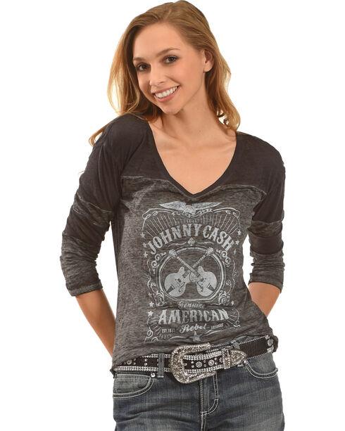 Merch Traffic Women's American Rebel Johnny Cash T-Shirt, , hi-res