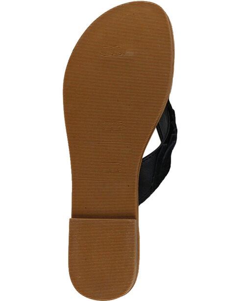 Shyanne® Women's Suede Fringe Sandals, Black, hi-res