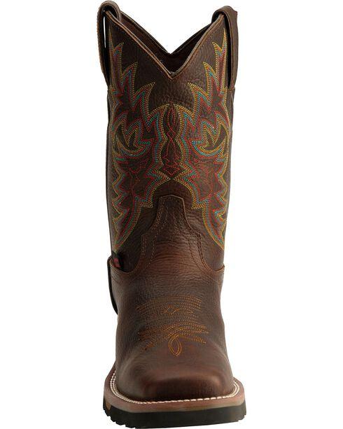 Tony Lama Men's TLX Waterproof Western Work Boots, Bark, hi-res