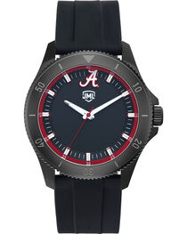 Jack Mason Men's Alabama Blackout Silicone Watch , , hi-res