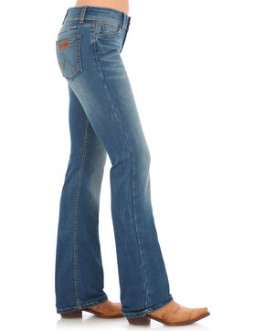 Wrangler Retro Women's Mae Mid-Rise Patch Jeans - Boot Cut, Indigo, hi-res