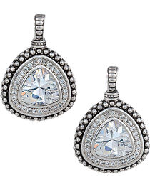 Montana Silversmiths Women's Western Drop Rounded Triangle Earrings, , hi-res