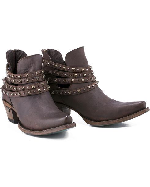 Lane Women's Brown Sweet Boots - Snip Toe , Dark Brown, hi-res