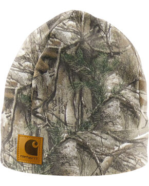 Carhartt Men's Work Camo Fleece Hat, Camouflage, hi-res