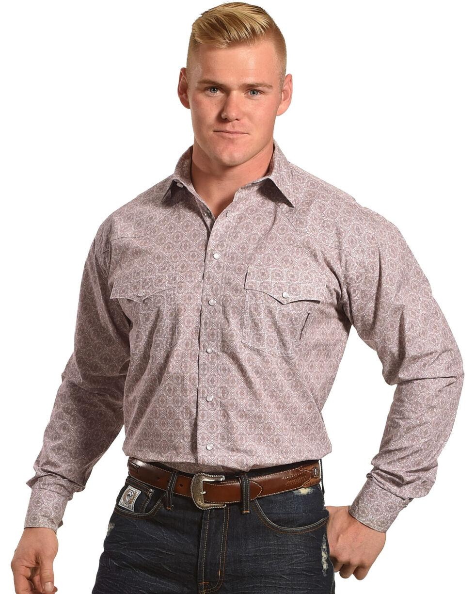 Resistol Men's Burgundy Woolsey Snap Western Shirt , Burgundy, hi-res