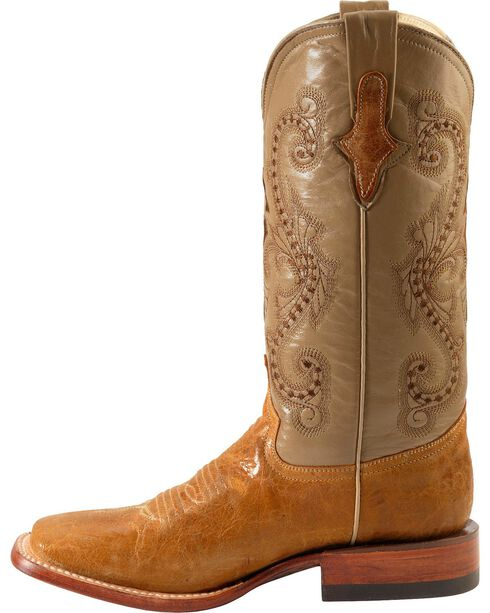 Ferrini Women's Distressed Kangaroo Square Toe Western Boots, Antique Saddle, hi-res