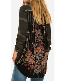Johnny Was Women's Camo Terre Velvet Embroidered Shirt , , hi-res