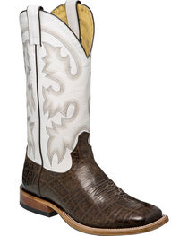 Tony Lama Men's Vaca Foot White Top Cowboy Boots - Square Toe, , hi-res