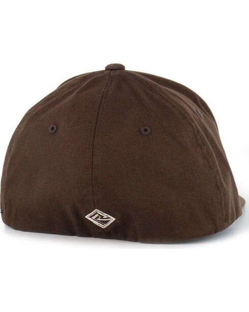 Tuf Cooper by Panhandle Men's Logo FlexFit Ball Cap, Brown, hi-res
