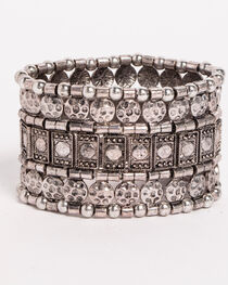 Shyanne® Women's Mixed Pattern Stretch Bracelet, , hi-res