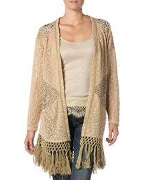 Miss Me Mix Match Lace Knit Cardigan Sweater, , hi-res