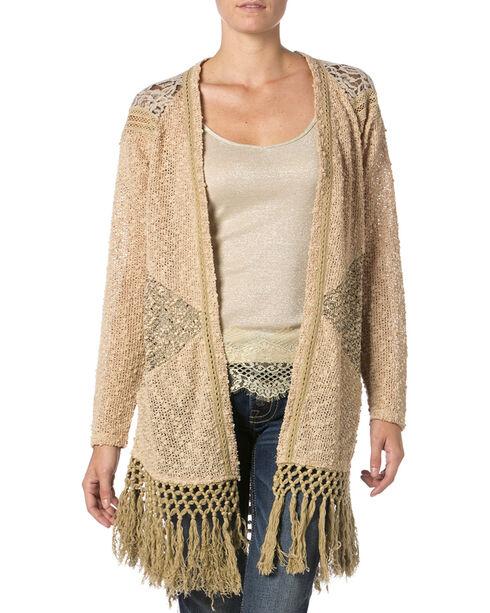 Miss Me Mix Match Lace Knit Cardigan Sweater | Boot Barn