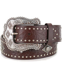 Shyanne® Women's Filigree and Stud Leather Belt , , hi-res