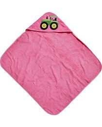 John Deere Girls' Pink Hooded Towel , , hi-res
