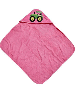 John Deere Girls' Pink Hooded Towel , Pink, hi-res