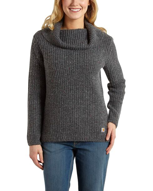 Carhartt Dutton Cowlneck Sweater, Dark Grey, hi-res