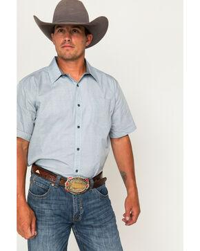 Cody James® Men's Patterned Short Sleeve Shirt, Light/pastel Blue, hi-res