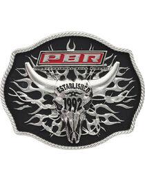 PBR Established 1992 Tribal Flames Buckle, , hi-res