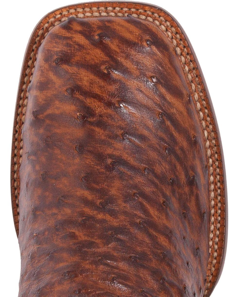 El Dorado Men's Handmade Full Quill Ostrich Stockman Boots - Square Toe, Bronze, hi-res