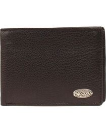 Nocona Logo Concho Leather Wallet, , hi-res