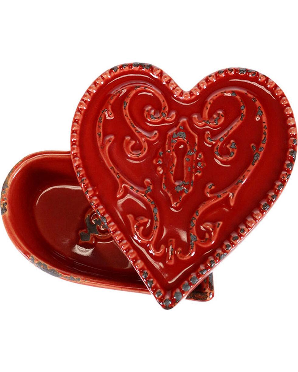 Stonebriar Worn Heart Ceramic Box, No Color, hi-res