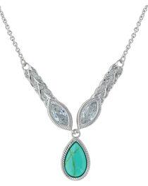 Montana Silversmiths Women's Silver Woven Light Lavalier Necklace , , hi-res