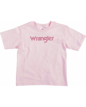 Wrangler Toddler Girls' Pink Short Sleeve Logo T-Shirt , Pink, hi-res