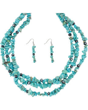 Shyanne® Women's Turquoise Jewelry Set, No Color, hi-res