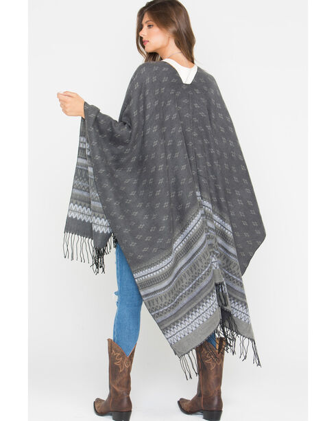 Shyanne Women's Palmona Blanket Scarf, Grey, hi-res