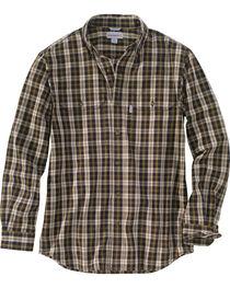 Carhartt Men's Black Plaid Fort Long Sleeve Shirt - Tall, , hi-res