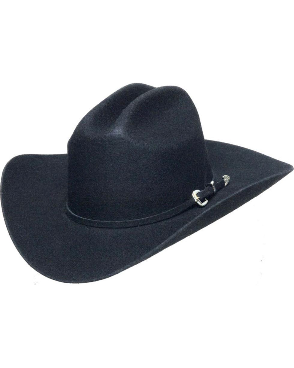 Western Express Men's Black Wool Felt Hat , Black, hi-res