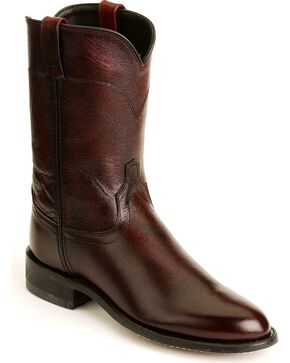Jama Men's Corona Roper Boots, Black Cherry, hi-res
