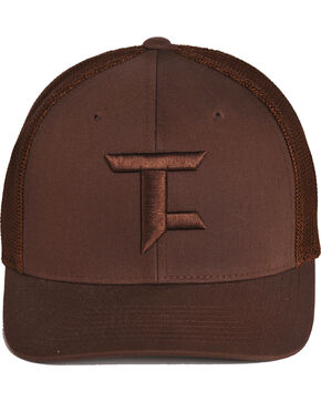 Tuf Cooper by Panhandle Men's FlexFit Ball Cap, Brown, hi-res