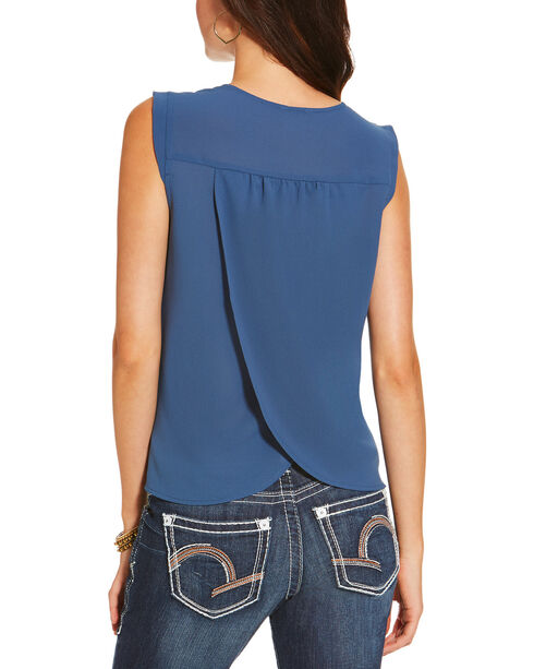 Ariat Women's Blue Italy Top, Blue, hi-res