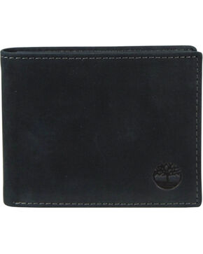 Timberland Men's Boot Leather Passcase Wallet, Black, hi-res
