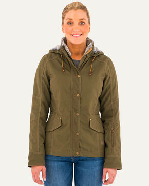 Noble Outfitters Women's Olive Girl Tough Canvas Jacket , Olive, hi-res