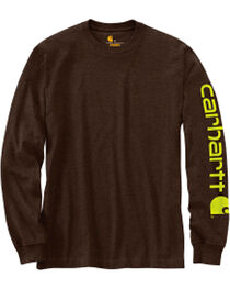 Carhartt Men's Dark Brown Signature Graphic Logo T-Shirt, , hi-res