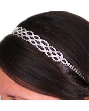 Silver Strike Women's Rhinestone Headband, Beige/khaki, hi-res