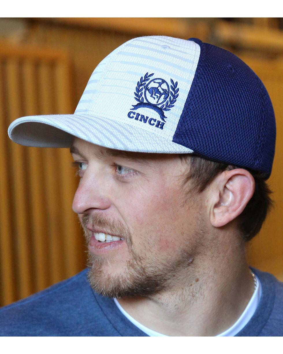 Cinch Men's Grey Airmesh Logo Baseball Cap , Grey, hi-res
