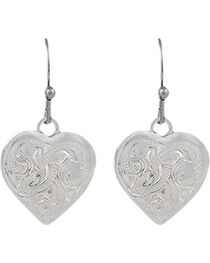 Montana Silversmiths Classic Montana Heart Swinging Earrings, , hi-res