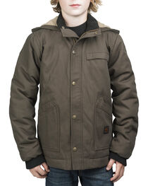 Walls Youth Cameron Insulated Hooded Jacket, Bark, hi-res