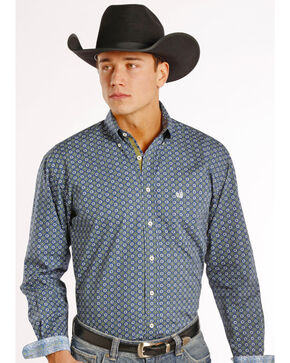 Panhandle Men's Printed Long Sleeve Shirt, Print, hi-res