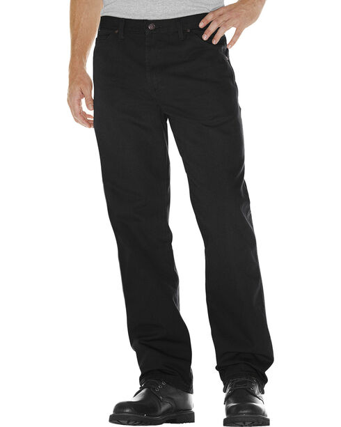 Dickies Relaxed Fit Duck Carpenter Jeans, Black, hi-res