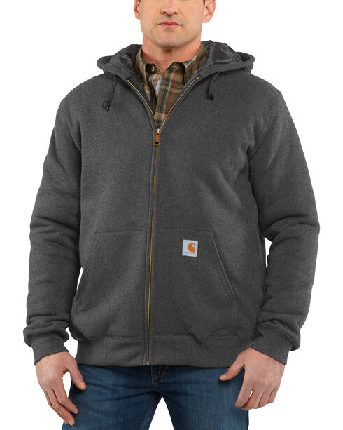 Carhartt Men's 3-Season Midweight Sweatshirt Jacket, Charcoal, hi-res