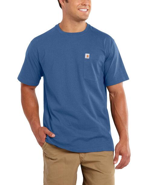 Carhartt Maddock Pocket Short Sleeve Shirt, Blue, hi-res