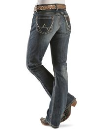 Wrangler Premium Patch Women's Mae Low Rise Boot Cut Jeans, , hi-res