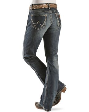 Wrangler Premium Patch Women's Mae Low Rise Boot Cut Jeans, Denim, hi-res